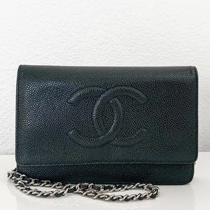 Chanel Timeless CC Wallet On Chain Black